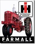 IH Farmall Tractors Tin Sign