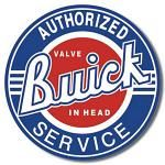 Buick - Service Round Tin Sign