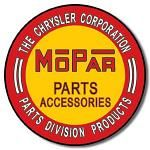Mopar Round Tin Sign