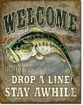 Bass Welcome Tin Sign