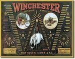 Winchester Bullet Board Tin Sign