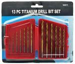13-pc. Titanium Drill Bit Set