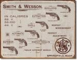 Smith & Wesson - Revolvers Tin Sign