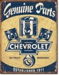 Chevy Piston Parts Tin Sign