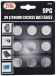 9-pc. 3V Lithium CR2032 Batteries