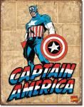 Captain America Panels Tin Sign