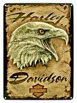 Harley Davidson Eagle Tin Sign