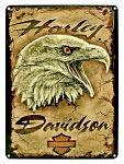 Harley Davidson Eagle Tin Sign