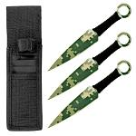 3 - pc. Throwing Knives Set - Digital Camo