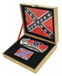 "4"" Manual Assist Lockback Folding Confederate Knife with Lighter"