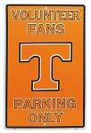 Volunteer Fans Parking Only Tin Sign