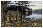 "24"" x 16"" LED Canvas Wall Art - Life's Rewards Cabin"