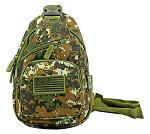 Military Side Sling Bag - Green Digital Camo