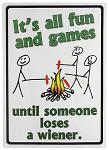 Fun and Games Tin Sign