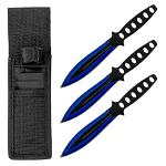 3-pc. Throwing Knife Set - Blue