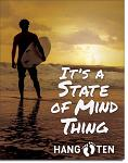 Hang Ten State of Mind Tin Sign