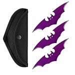 "3-pc. 6"" Bat Throwing Knife Set - Purple"