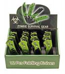 12-pc. Spring Assist Zombie Knife Set