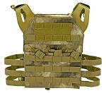 Junior Padded Tactical Vest - Desert AU Camo