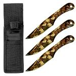 3-pc. Throwing Knife Set - Woodland Camo