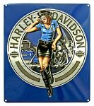 Harley Davidson Police Women Tin Sign