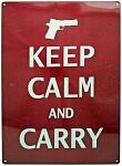 Keep Calm and Carry Tin Sign