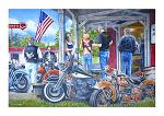 """24"""" x 16"""" LED Canvas Wall Art - Rust in Peace"""