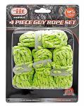 4-pc. 12.5' Neon Guy Rope Set