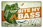 Bite My Bass Tin Sign