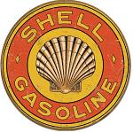 Shell Gasoline 1920's Round Tin Sign