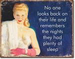 Plenty of Sleep Tin Sign