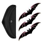 3 - pc. Bat Throwing Knife Set - Pink
