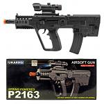 P2163 Spring Powered Airsoft Gun - Black