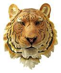 Orange Tiger Head Hanging Statue