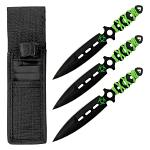 3 - pc. Throwing Knife Set - Biohazard