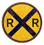 Railroad Crossing Tin Sign