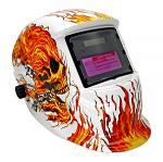 Auto-Darkening & Solar Power Welding Helmet - White