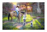 """24"""" x 16"""" LED Canvas Wall Art - Mother's Work is Never Done"""