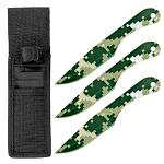 3-pc. Throwing Knife Set - Digital Camo
