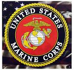 United States Marine Corps Tin Sign