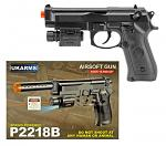 P2218B Spring Powered Airsoft Handgun - Black