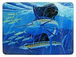 Guy Harvey Sailfish Glass Cutting Board