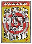 Keep Your Aim Keener Tin Sign