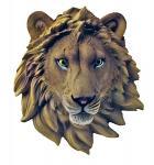 Safari Wild Hanging Lion Head