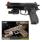 P2220 Spring Powered Airsoft Handgun - Black