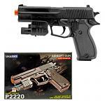 P2220 Spring Powered Airsoft Handgun - Black