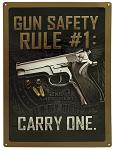 Gun Safety Tin Sign