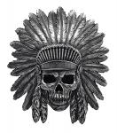 War Path Hanging Indian Skull