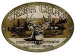 Deer Camp Oval Tin Sign