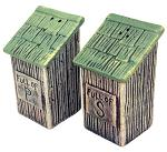 Outhouse Salt & Pepper Shaker Set